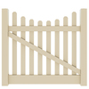Barrette Elite Lennox Scallop 4-ft x 5-ft Sand Picket Drive Vinyl Fence Gate