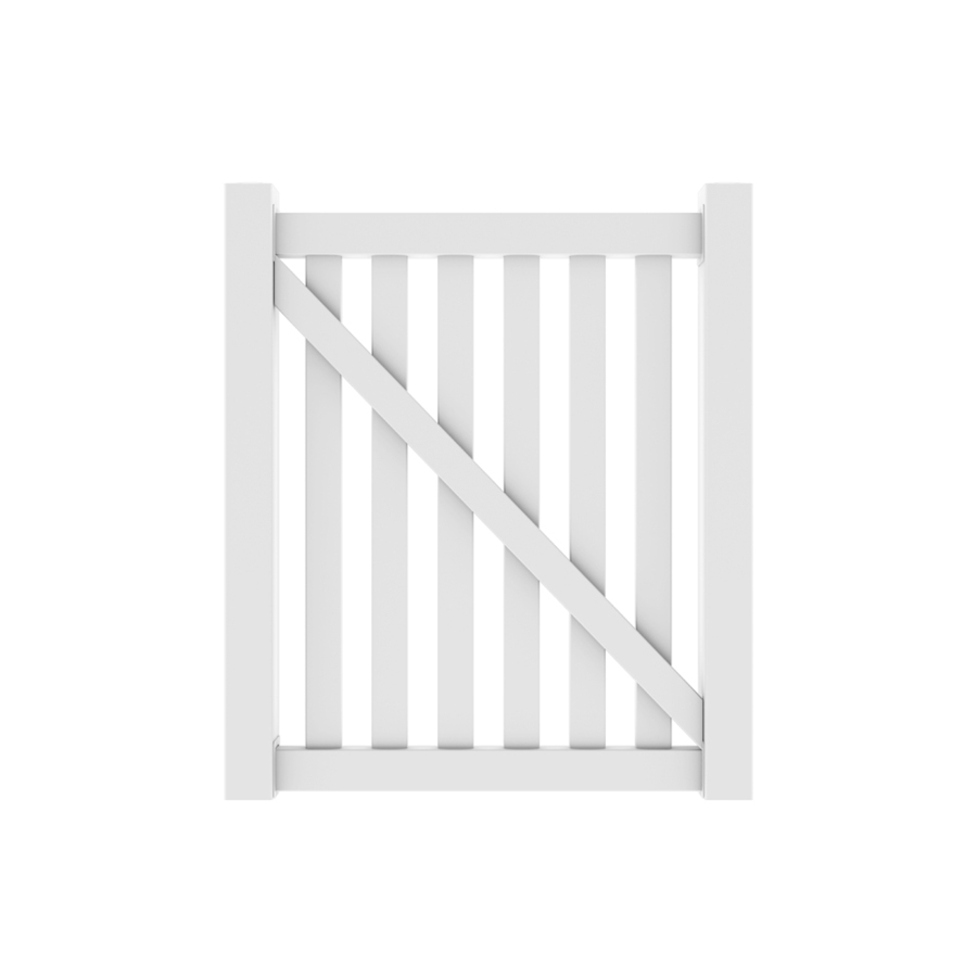 Shop Barrette 4 X44 Quot Terex Picket Walk Gate White At Lowes Com