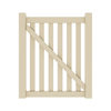 Gatehouse 51-in H x 44-in W Beige Vinyl Fence Gate Kit
