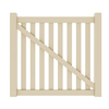 Gatehouse 51-in H x 56-in W Beige Vinyl Fence Gate Kit