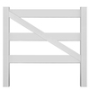 Gatehouse 53-in H x 63-in W White Vinyl Fence Gate Kit