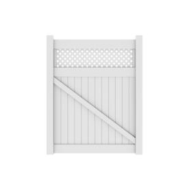 Shop Barrette 72 Quot White Vinyl Fence Gate Kit At Lowes Com