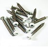 "Barrette 1-1/2"" SS SCREWS W/SQ DRIVE BIT WHITE"