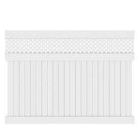 Barrette Elite Hamden 6-ft x 8-ft White Lattice-Top Privacy Vinyl Fence Panel