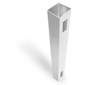 Barrette Stratford White Vinyl Fence End Post (Common: 9-ft; Actual: 9-ft)
