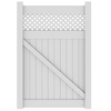 Barrette Hamden 73.5-in H x 49-in W White Vinyl 3-Rail Gate Frame Kit