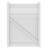 Barrette Hamden 6-ft 1-1/2-in H x 56-in W White Vinyl 3-Rail Gate Frame Kit