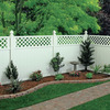 Freedom Pre-Assembled Wellington White Vinyl Semi-Privacy Fence Panel (Common: 6-ft x 6-ft; Actual: 5.65-ft x 5.66-ft)