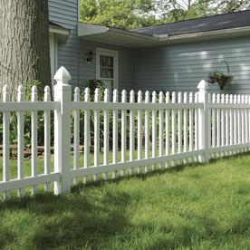 Freedom Pre-Assembled Newport White Vinyl Fence Panel (Common: 8-ft x 3-ft; Actual: 7.63-ft x 2.83-ft)