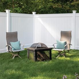 Freedom Ready-to-Assemble Emblem White Vinyl Privacy Fence Panel (Common: 8-ft x 6-ft; Actual: 7.82-ft x 6-ft)
