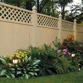 FREEDOM Select-Pack Desert Sand Vinyl Privacy Fence Panel (Common: 6-in x 72-ft; Actual: 5.7-ft x 70-ft)