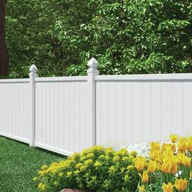 Freedom Pre-Assembled Crosston White Vinyl Privacy Fence Panel (Common: 6-ft x 4-ft; Actual: 5.66-ft x 3.83-ft)