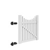 Freedom Carlisle Scallop White Vinyl Fence Gate (Common: 4-ft x 4-ft; Actual: 3.83-ft x 3.83-ft)