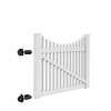 Freedom Carlisle Scallop White Vinyl Fence Gate (Common: 5-ft x 4-ft; Actual: 4.83-ft x 3.83-ft)