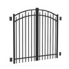 FREEDOM 5-ft x 6-ft Black Aluminum Fence Gate