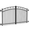FREEDOM 8-ft Black Aluminum Driveway Gate