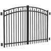 FREEDOM 5-ft x 8-ft Black Aluminum Fence Gate