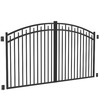 FREEDOM 10-ft Black Aluminum Driveway Gate