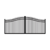 FREEDOM 14-ft Black Aluminum Driveway Gate