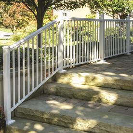 shop freedom cambridge 42 in white aluminum porch railing
