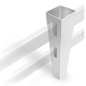 Shop Barrette Post And Rail White Vinyl Fence Line Post