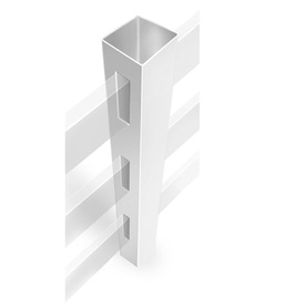 Barrette Ready-to-Assemble White Vinyl Fence Line Post (Common: 4-3/4-in x 4-3/4-in x 7-ft; Actual: 4.75-in x 4.75-in x 7-ft)