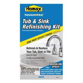 Homax 21 fl oz High-Gloss White Brush On Tub and Sink Refinishing Kit