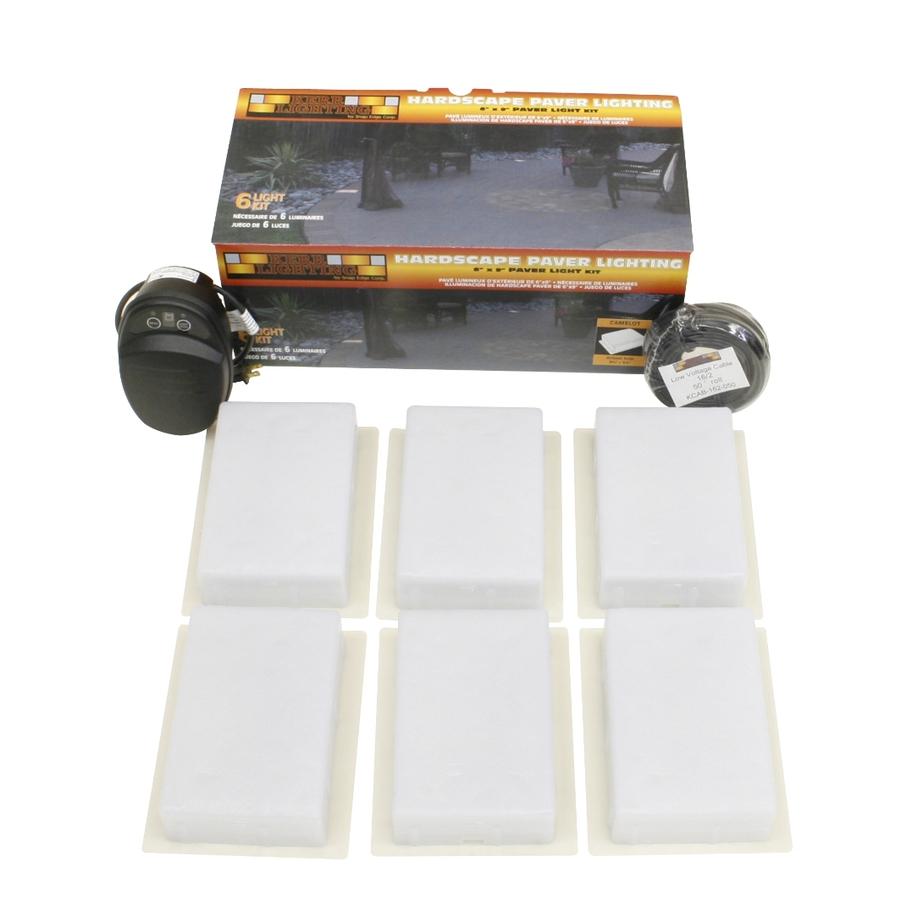 Shop kerr lighting 6 light tan low voltage path lights for Low voltage outdoor lighting kits