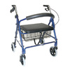 DMI Royal Blue Fold-Up/Easy Storage Rollator