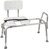 DMI White Plastic Freestanding Transfer Bench