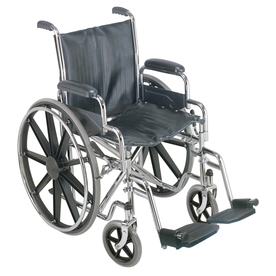 DMI Silver Fold-Up/Easy Storage Wheelchair