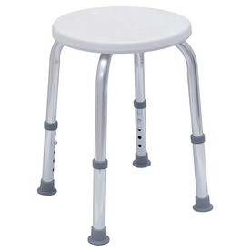 DMI White Plastic Freestanding Shower Seat
