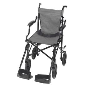 DMI Black Fold-Up/Easy Storage Transport Chair