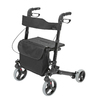 HealthSmart Black Fold-Up/Easy Storage Rollator