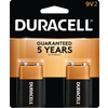 Duracell 2-Pack 9V Alkaline Batteries