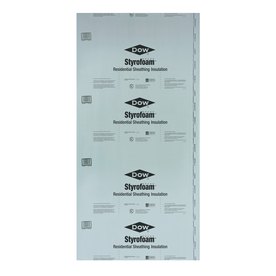 STYROFOAM R5 Faced Polystyrene Foam Board Insulation (Common: 0.75-in x 4-ft x 8-ft; Actual: 0.687-in x 3.937-ft x 7.875-ft)
