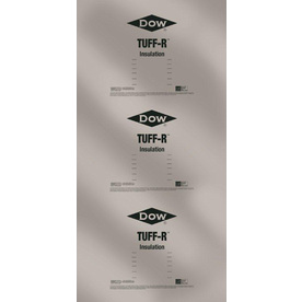 Dow Tuff-R 22-Pack R6.5 Faced Polyisocyanurate Foam Board Insulation with Sound Barrier (Common: 1-in x 4-ft x 8-ft; Actual: 1-in x 4-ft x 8-ft)