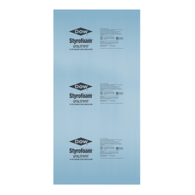 Dow R5 Faced Polystyrene Foam Board Insulation (Common: 1.5-in x 4-ft x 8-ft; Actual: 1.437-in x 3.937-ft x 7.875-ft)