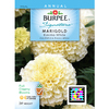 Burpee Eskimo White Marigold Seed Packet