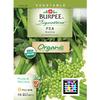 Burpee Pea Organic Vegetable Seed Packet
