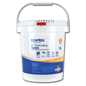 Kem-Tek 35-lb Bucket 3-in Pool Chlorine Tabs