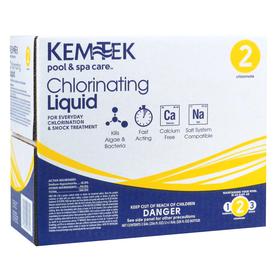 Kem-Tek 2-Gallon Liquid Pool Chlorine