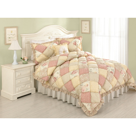 Modern Heirloom Molly Puff 3-Piece Multicolor Full/Queen Quilt Set