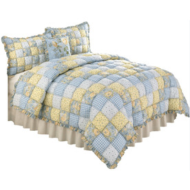 Modern Heirloom Joan Puff 3-Piece Multi Full/Queen Quilt Set