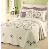 Modern Heirloom Gwen Embroidered 1-Piece Cream King Bedspread Set