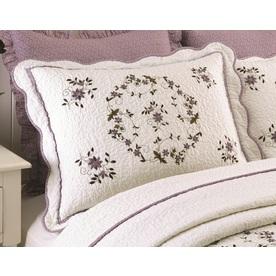 Modern Heirloom Gwen Embroidered 1-Piece Cream Full Sham Set