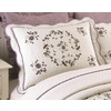 Modern Heirloom Gwen Embroidered 1-Piece Cream Queen/King Sham Set