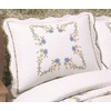 Modern Heirloom Heather Embroidered 1-Piece White Queen/King Sham Set