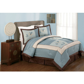 Modern Heirloom Samantha 4-Piece Blue Queen Comforter Set