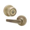 Kwikset Delta SmartKey Antique Brass Keyed Entry Door Lever